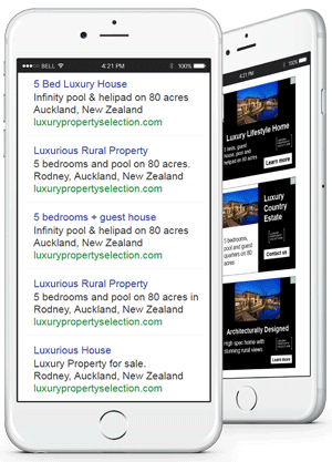 iPhone 6 luxury adwords campaign