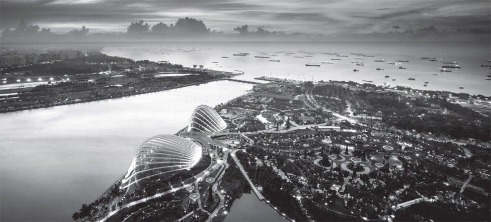 luxury Singapore skyline