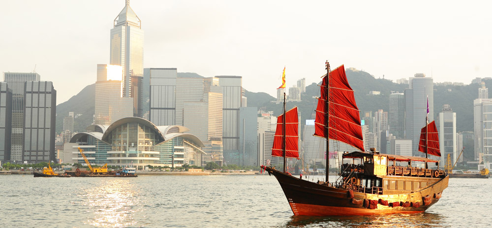 Hong Kong harbor - Kowloon bay